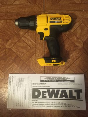 DeWalt. 20V MAX Lithium Ion 2-Speed Cordless Compact Drill Driver (Tool Only). DCD771B. for Sale in Brooklyn, NY