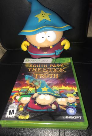 South Park The Stick Of Truth game & statue Xbox 360 for Sale in Corona, CA