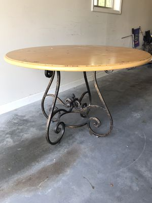 Dining table with wrought iron base for Sale in Alpharetta, GA