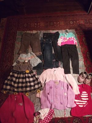 24month to 3T girl clothes, and a pair of light up shoes for Sale in Tacoma, WA