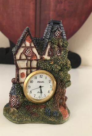 Miniature Tudor cottage with lantern and center clock . The house is 4 inches in height and 2.75 base width. for Sale in Queens, NY