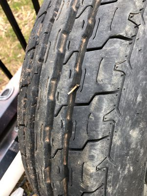 Spare car trailer tire size it in pics never on anything for Sale in York, PA