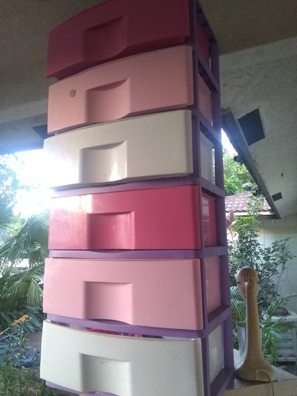 Colored plastic drawers