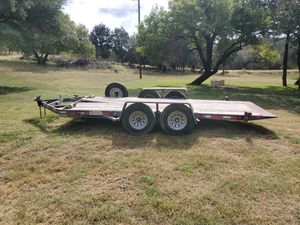 Doolie Flatbed Tilt Trailer With Bran New Tires! for Sale in Leander, TX
