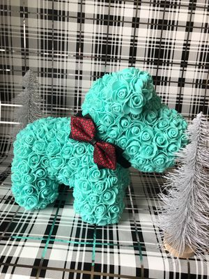 Tiffany Blue Puppy From Foam Roses for Sale in Rio Linda, CA