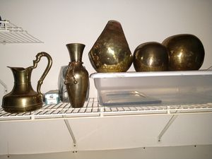 Assortment of copper and brass items for Sale in Davenport, IA