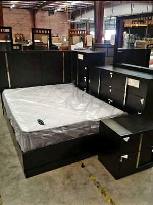 $39 Down Payment 《 Best OFFER》Evenson Brownish Gray Platform Bedroom Set [FREE CHEST] 1229 for Sale in Columbia, MD