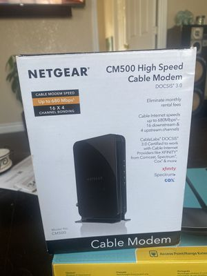 Netgear CM500 high speed cable modem for Sale in Oakland, CA