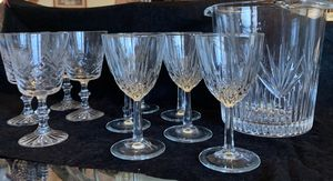 Polish crystal glasses and ice bucket for Sale in Waterbury, CT