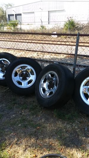 Tires 6 lug with rims package deal for Sale in Auburndale, FL
