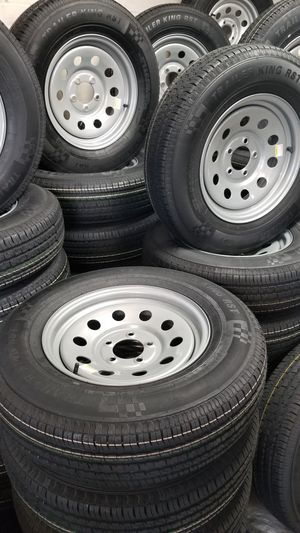 NEW TRAILER TIRES AND WHEELS STARTING AT $70+TAX AND UP TIRE/RIM ASSEMBLY SEE BELOW for Sale in Douglasville, GA