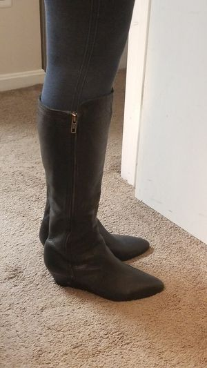 Genuine Leather boots in black Size 9 Made in Brazil for Sale in Alexandria, VA