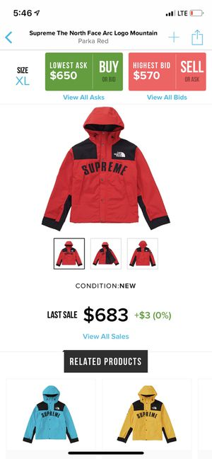 Supreme TNF Size XL new deadstock bape for Sale in Queens, NY