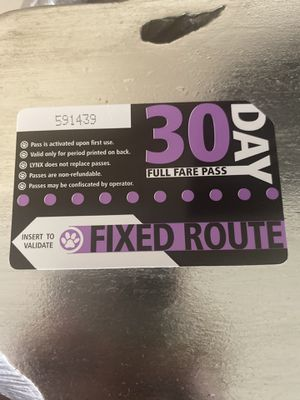 Lynx Bus Pass 30 Day Unused Brand New for Sale in Orlando, FL