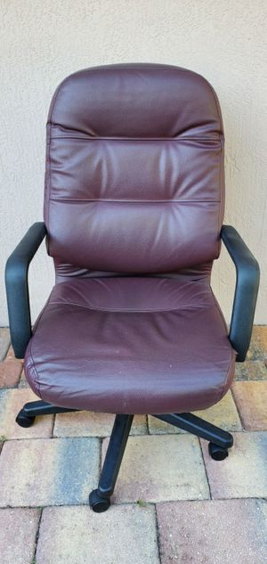 Leather adjustable office chair for Sale in Davie, FL