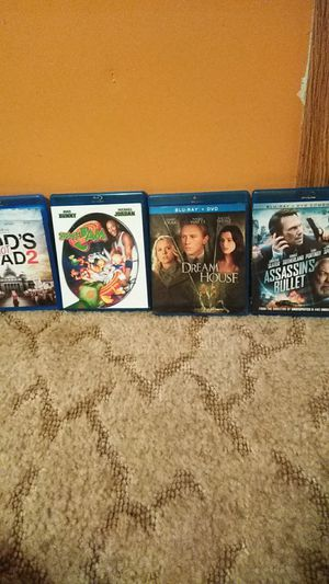 Blu Ray movies 5$ each for Sale in Marshfield, MO