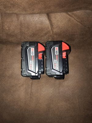 Milwaukee 5.0 batteries for Sale in Clayton, NC