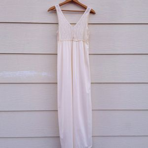 Vintage Nightgown Cream with Lace by JC Penny L for Sale in Menifee, CA