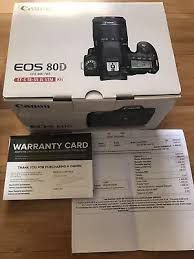 Canon eos80D with box (used) high shutter count for Sale in Las Vegas, NV