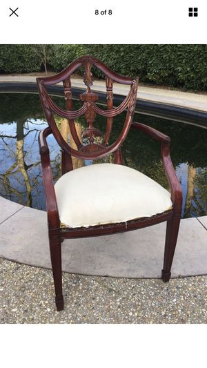 Mainland Smith Shieldback captains arm chair Mahogany for Sale in Washington, DC