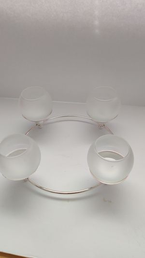 PartyLite P7745 Silver Played Century Candle Holder for Sale in Aurora, IL