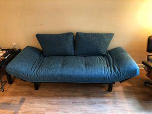 Futon (Aqua linen) for Sale in Bethesda, MD
