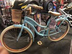 """Huffy 24"""" Nel Lusso Girls' Cruiser Bike with Perfect Fit Frame, Mint Green for Sale in Forest Park, GA"""