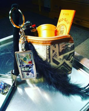 """$100 Bills Y'all"" Roach Clip w/Stash Bag for Sale in Roseville, CA"