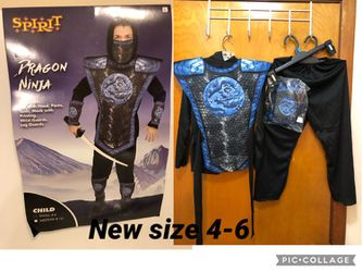 New Ninja Dragon – Boys size available - and small 4-6 - Includes Top , pants , tunic wrist and leg guards mask , Reg. $21.99 From Spirit for Sale in Norridge,  IL