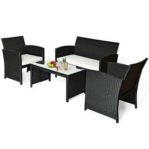 4Pcs Rattan Furniture Set Home Garden Patio Outdoor Decor for Sale in Los Angeles, CA