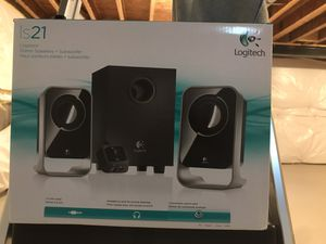 Logitech stereo speakers plus subwoofer for Sale in Hagerstown, MD