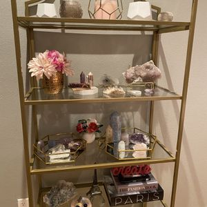 Brass glass bookshelves for Sale in Los Angeles, CA