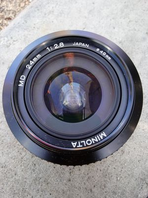Minolta MD 24mm Vintage Wide-Angle PERFECT for Sale in Montclair, CA