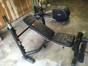 Marcy Pro weight bench with weights $125 for Sale in Vancouver, WA