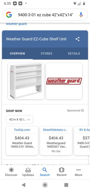 Weather guard ez cube for Sale in Hayward, CA