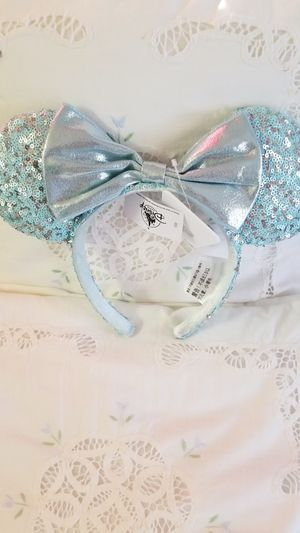 Minnie Mouse Sequined Frozen Ear Headband- Arendelle Aqua for Sale in Celebration, FL