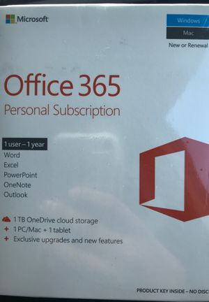 Microsoft office 365 one user 1 year for Sale in San Diego, CA