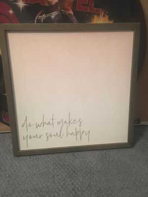 Happiness sign decor 12x12 approx for Sale in New Brunswick, NJ