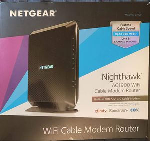 Nighthawk Modem/Router AC1900 for Sale in Bell Gardens, CA