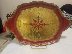 Vintage all wood tray italy for Sale in Chapel Hill, NC
