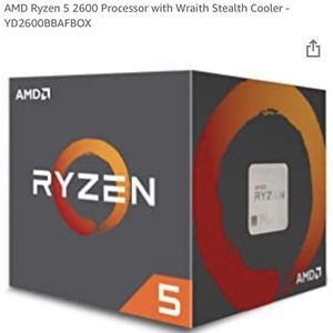 AMD Ryzen 5 2600 Processor with Wraith Stealth Cooler for Sale in Colorado Springs, CO