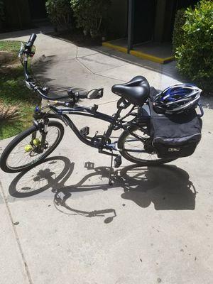 IZIP E3 Zuma Blue & White Beach Cruiser Hybrid Electric Bike for Sale in Santa Monica, CA