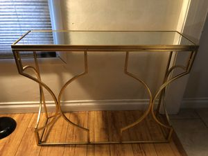 Geometric Gold Frame Table $100 OBO for Sale in Long Beach, CA