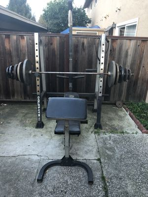 Olympic Weight Set and Bench for Sale in San Jose, CA