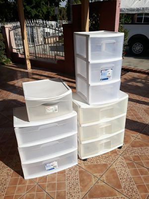 Plastic organizers drawers for Sale in El Monte, CA