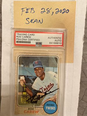 1968 Rod Carew topps all star rookie autographed psa certified for Sale in Garden Grove, CA