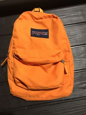 JANSPORT ORANGE BACKPACK $25 TRADE OFFERS WELCOMED. for Sale in Miami Lakes, FL