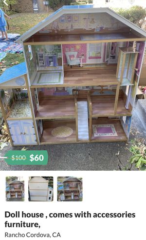 53x49 kid's doll house Very nice $60 for Sale in Rancho Cordova, CA