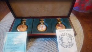 Winnie the Pooh pocket watch collection. Limited edition for Sale in Crewe, VA