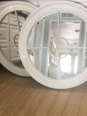 Pair of round Cape Cod Style mirrors. for Sale in Glendora, CA